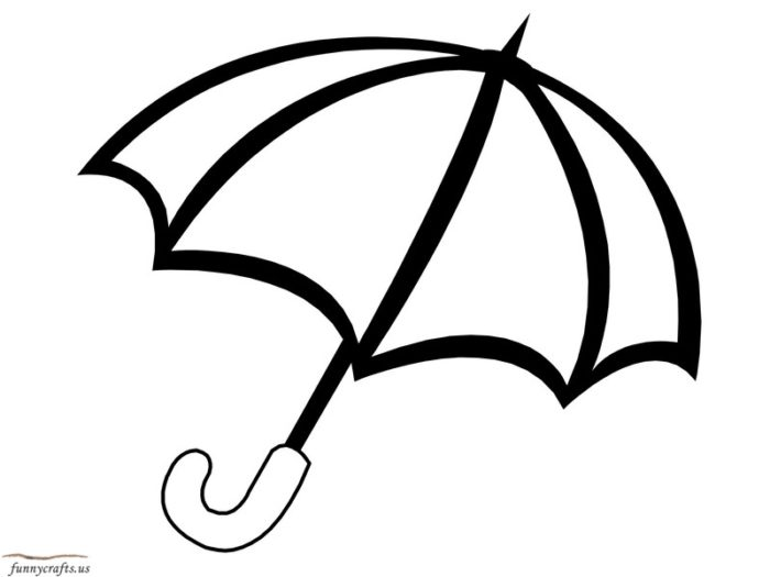 Umbrella colouring page clipart best for Umbrella coloring pages