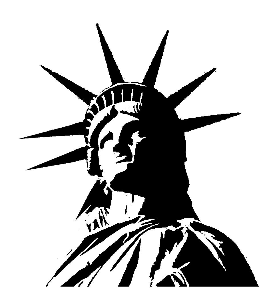 Liberty statue png clipart best for Statue of liberty drawing template