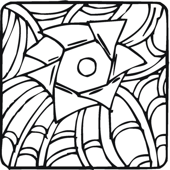 Design coloring sheets clipart best for Simple geometric designs coloring pages