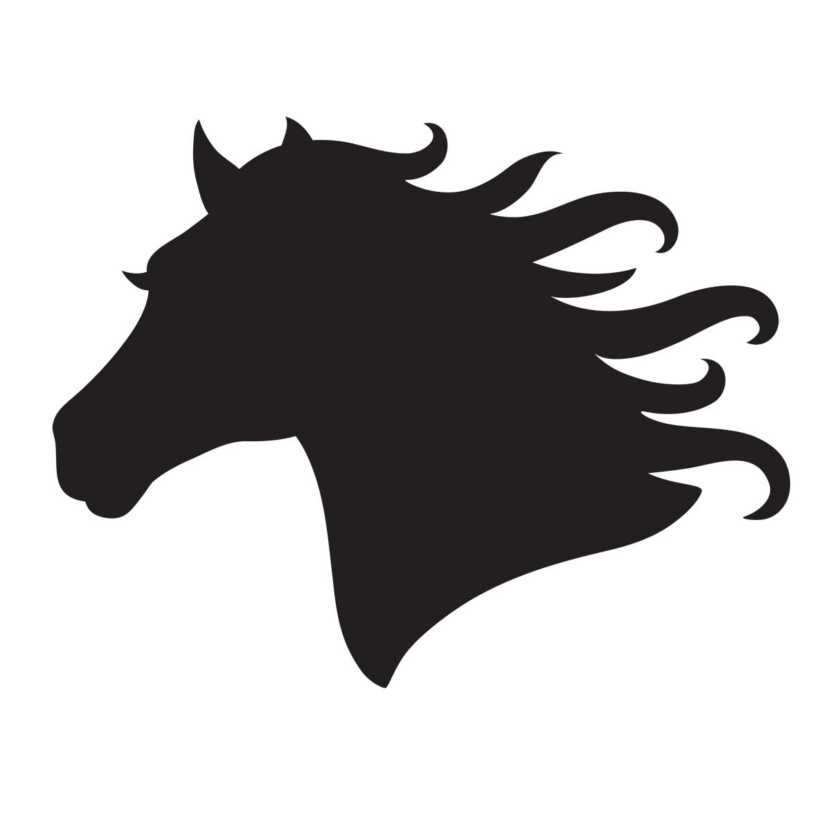 Free Printable Horse Head Stencils Clipart Best