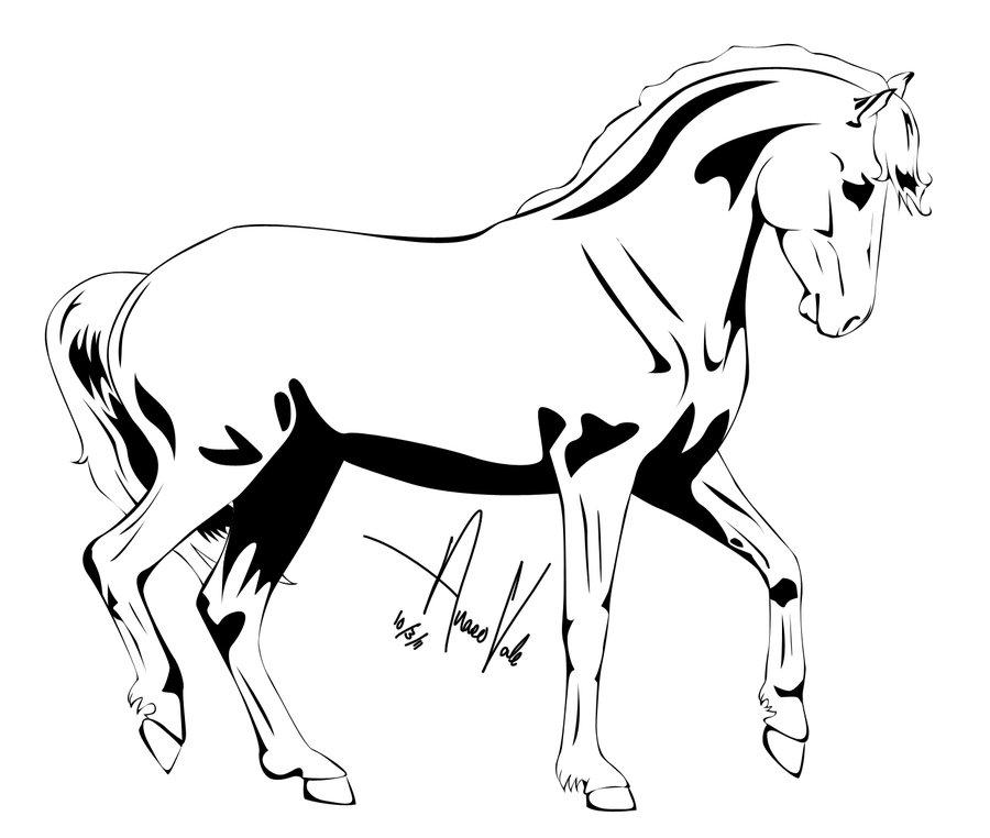 horse drawings clip art - photo #24