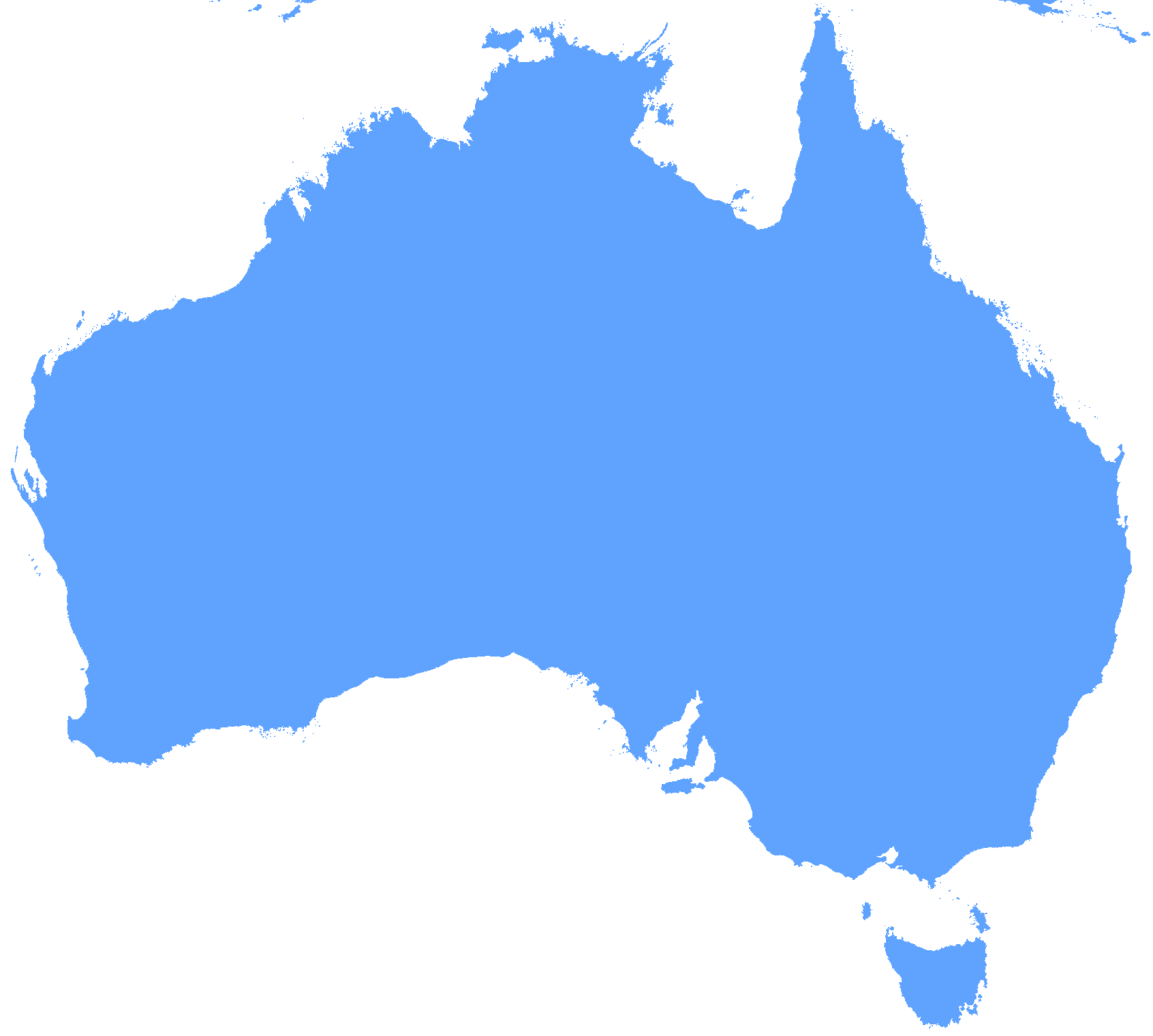 Australia Outline Map Clipart Best