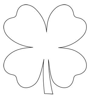 Sizzling image with regard to four leaf clover printable template