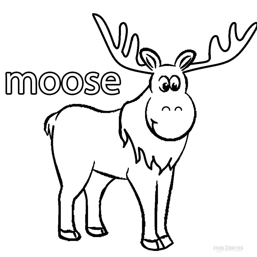 coloring pages moose - how to draw a kids moose clipart best