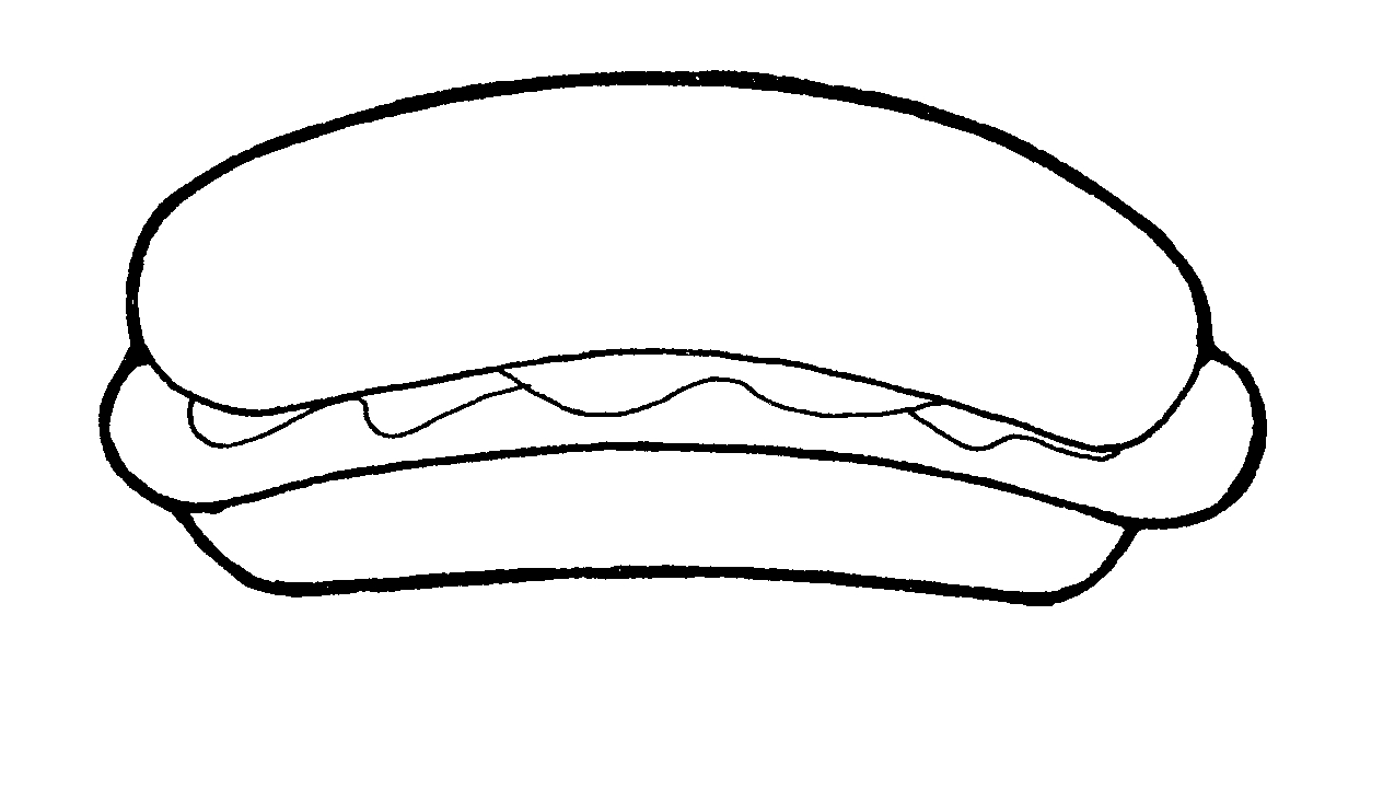 hamburger bun coloring page - photo #39