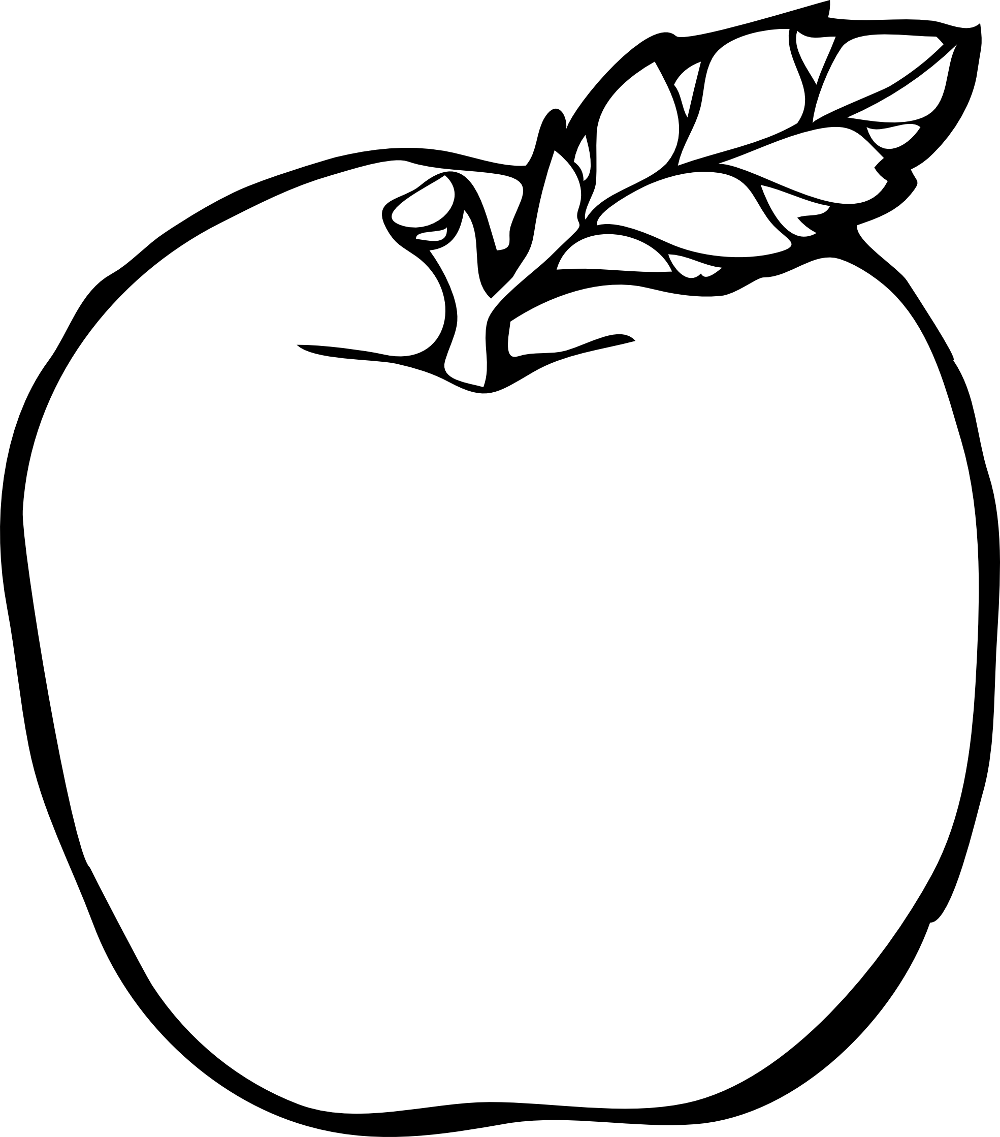 18 apple line drawing . Free cliparts that you can download to you ...