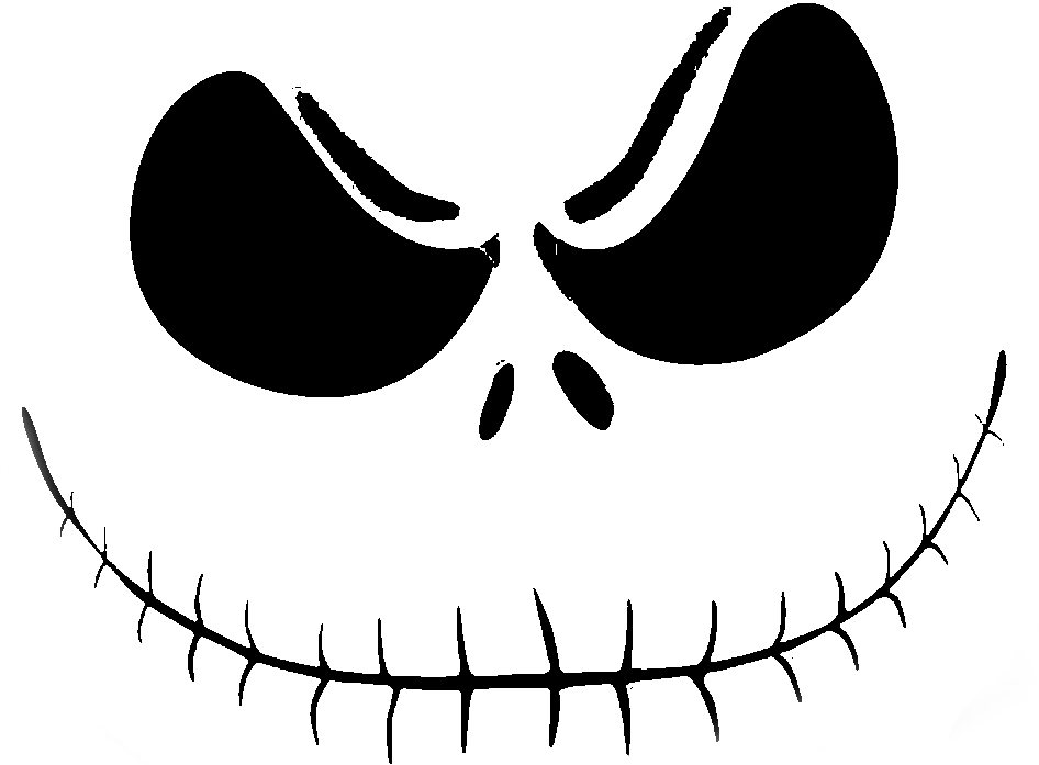 jack skellington 2 pumpkin face free pumpkin carving With jack skellington face template