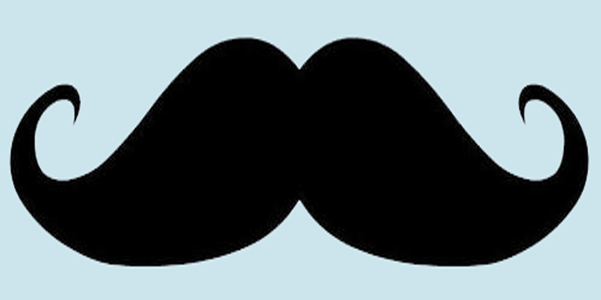 Moustache outline clipart best for Mustache print out template