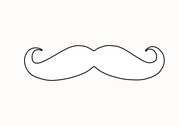 Mustache clip art - vector clip art online, royalty free & public ...