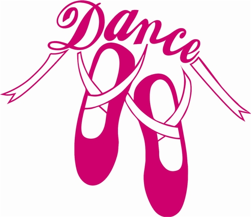 ballet Slippers Dance Stickers - 89.4KB