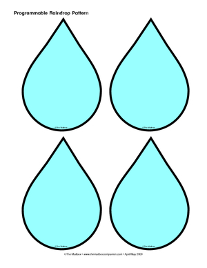 Current image in printable raindrop