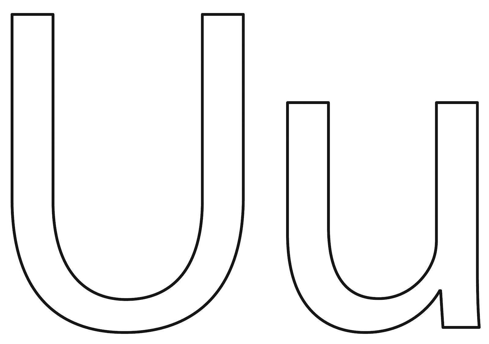 alphabet coloring page letter u umbrella printables for kids
