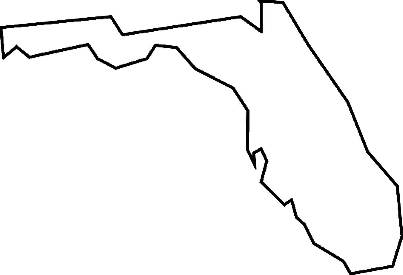 Clip Art Of State Fl : Florida outline clipart best