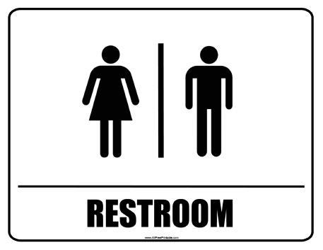 Restroom Signs   Free Printable   AllFreePrintable. Signs Printable   ClipArt Best