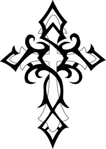 Christian cross tattoo rosary praying hands american native