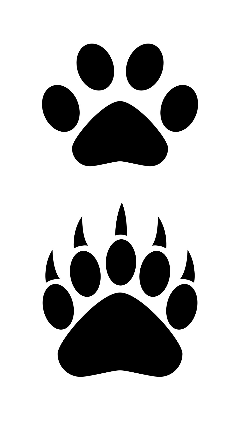 black bear paws clipart best. Black Bedroom Furniture Sets. Home Design Ideas