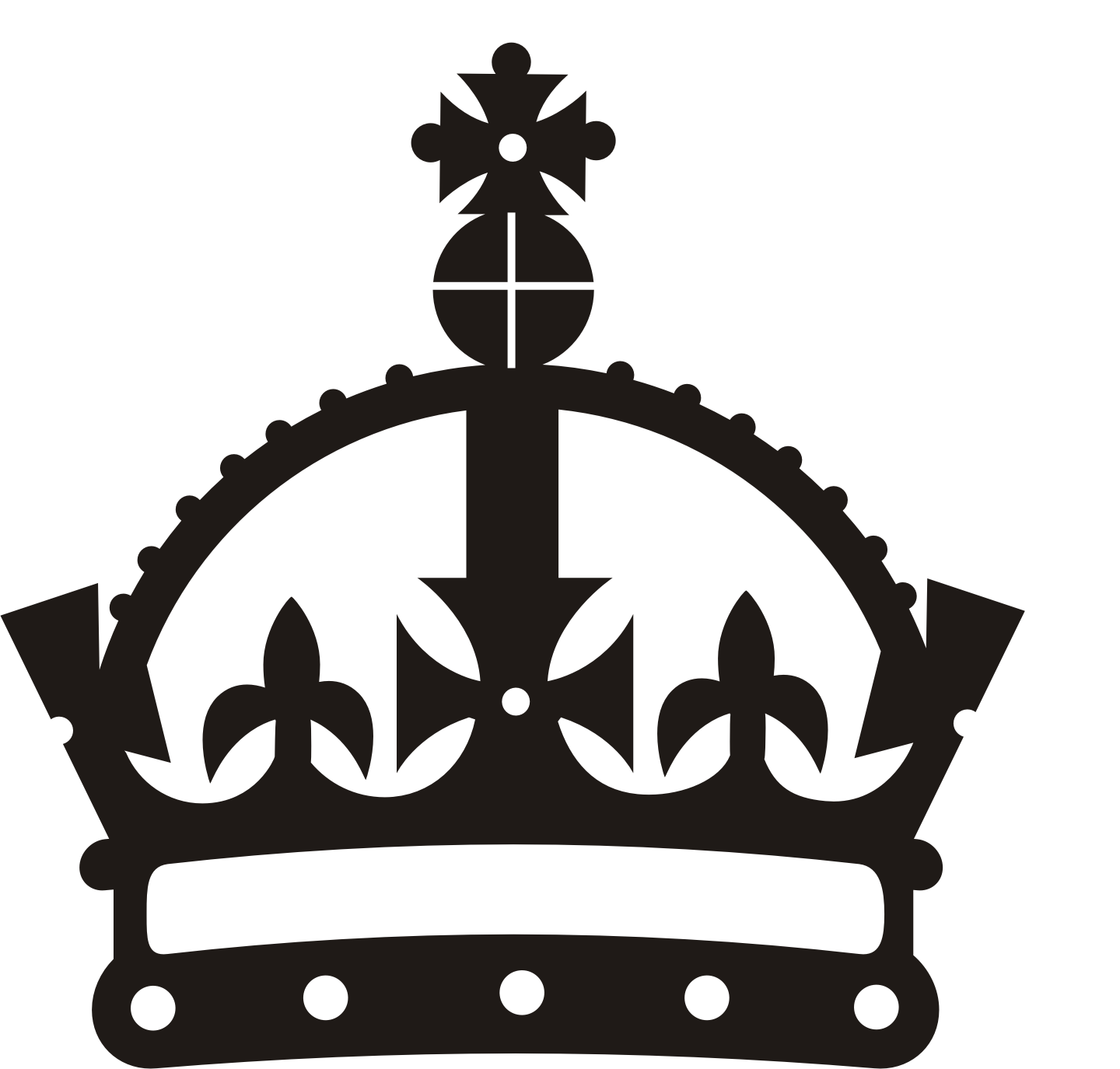 free vector clipart crown - photo #5