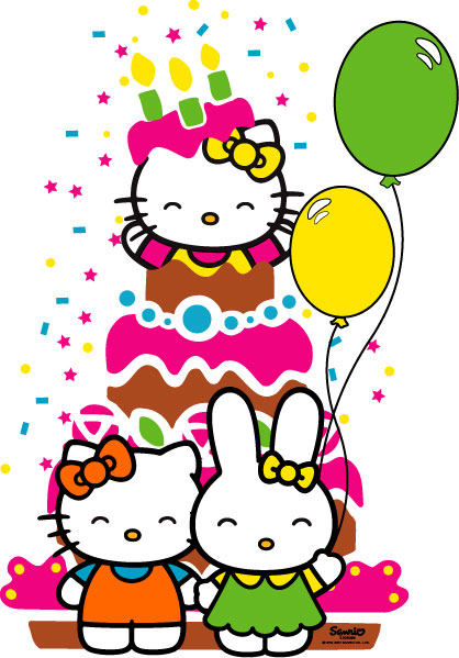 Happy birthday pictures hello kitty clipart best - Hello kitty birthday images ...