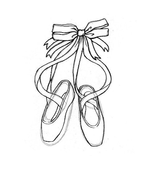 Black Ballet Shoes Drawing