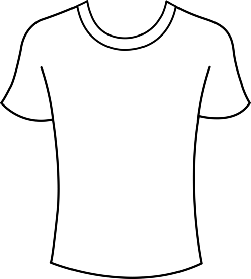T Shirt Design Line Art : T shirt outline printable clipart best