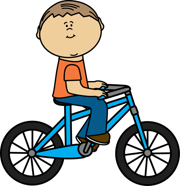 Boy Riding a Bicycle Clip Art - Boy Riding a Bicycle Image - ClipArt ...