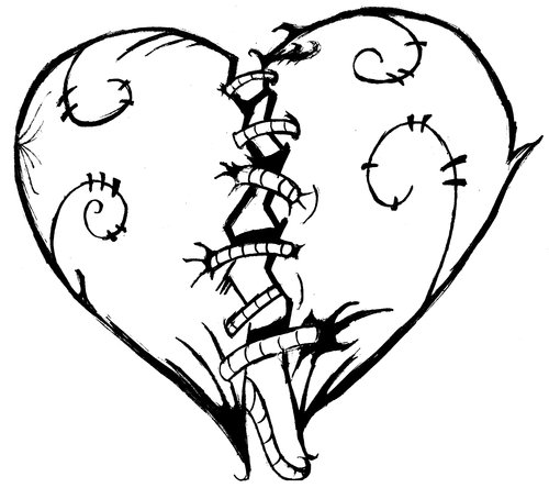 Hearts That Are Broken Coloring Pages - ClipArt Best