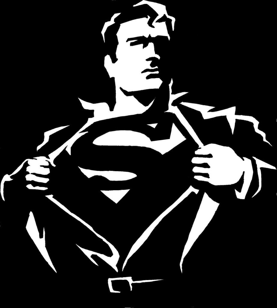 Superman Black And White Logo - ClipArt Best
