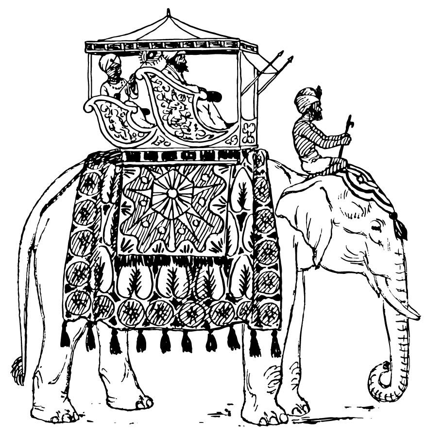 Elephant india coloring sheet clipart best for Free indian coloring pages