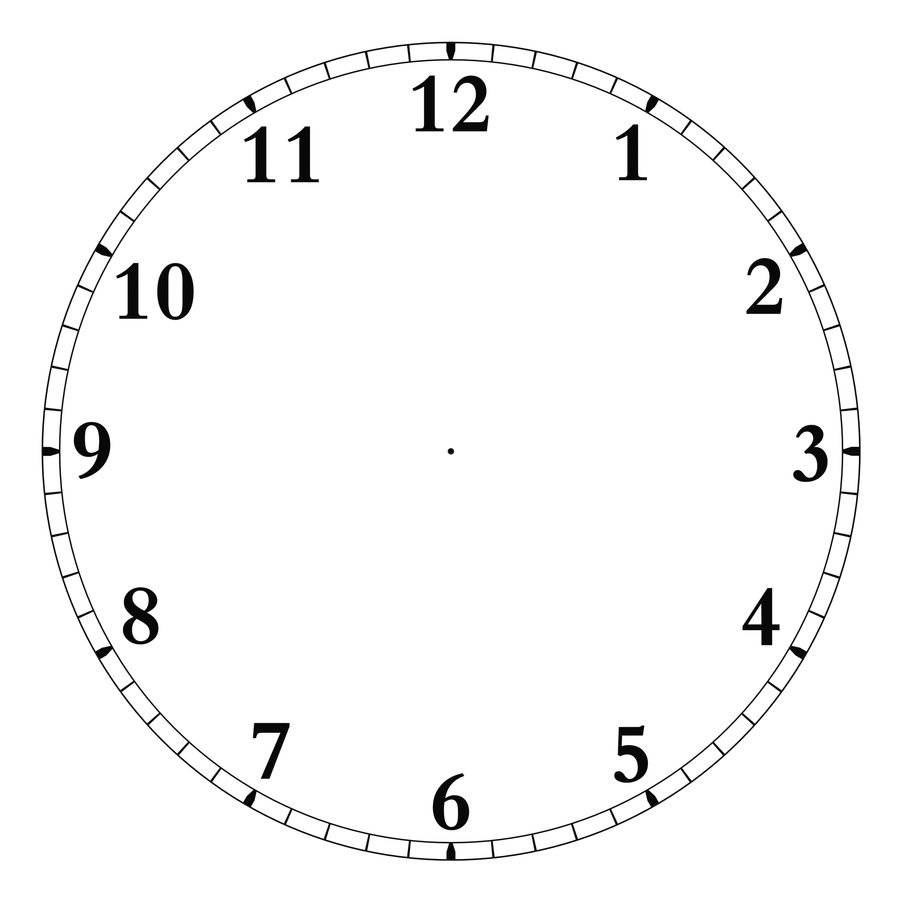 24 Hour Clock Template Clipart Best