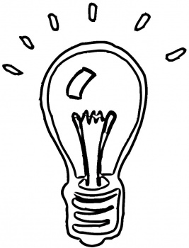 light bulb ideas Colouring Pages