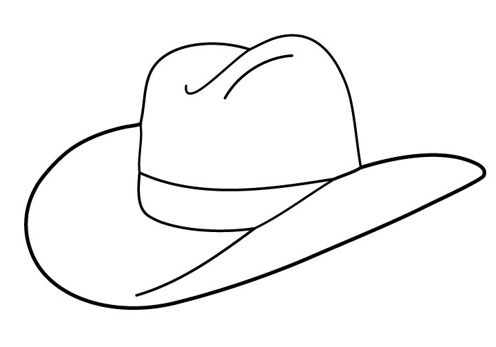 Cowgirl Hat Printable Outline - ClipArt Best