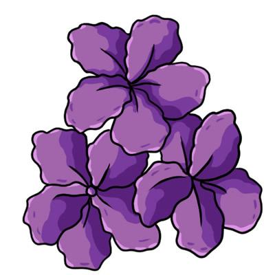 Purple Flowers Clip Art Border - ClipArt Best