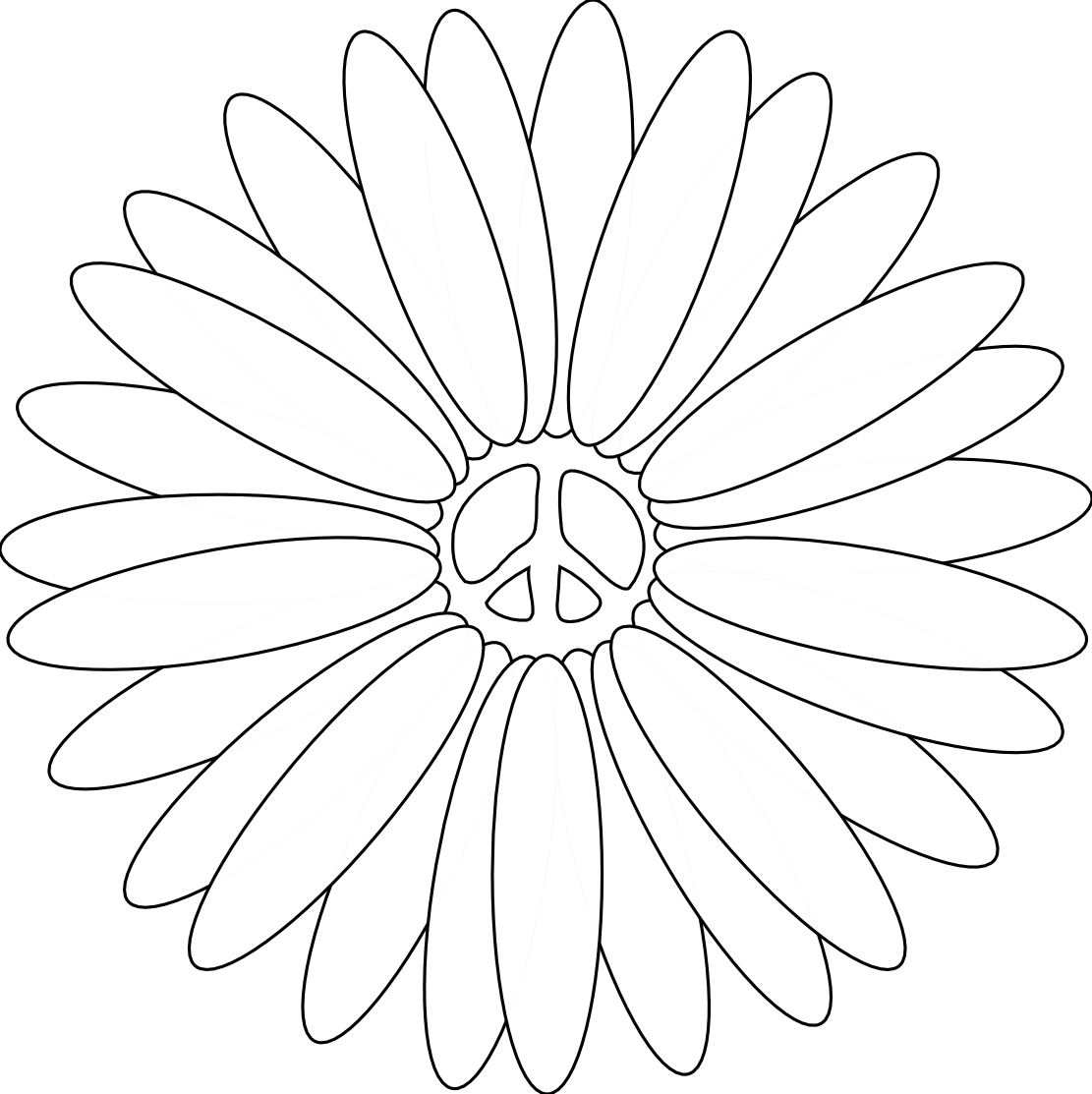 cool peace sign coloring pages - photo#6