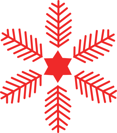 Red Snowflake - ClipArt Best