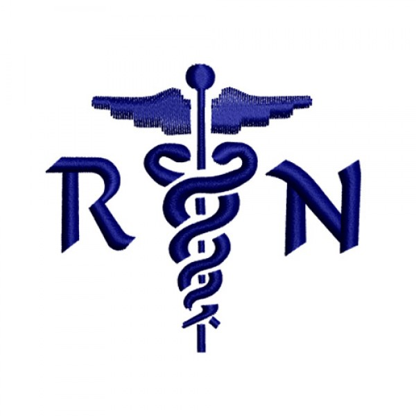 Nursing Caduceus Medical Nurse Symbol 2 Embroidery Design ...