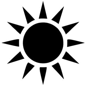Black Sun clip art - vector clip art online, royalty free & public ...: www.clipartbest.com/sunshine-clipart-images