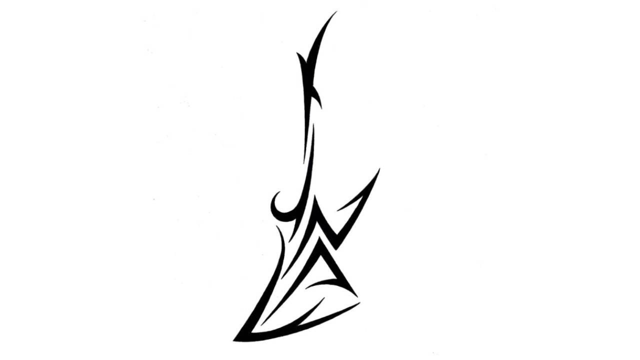 drawing tribal electric guitar hidden name tattoo design youtube clipart best clipart best. Black Bedroom Furniture Sets. Home Design Ideas