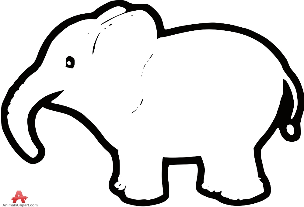 Baby Elephant Outline - ClipArt Best