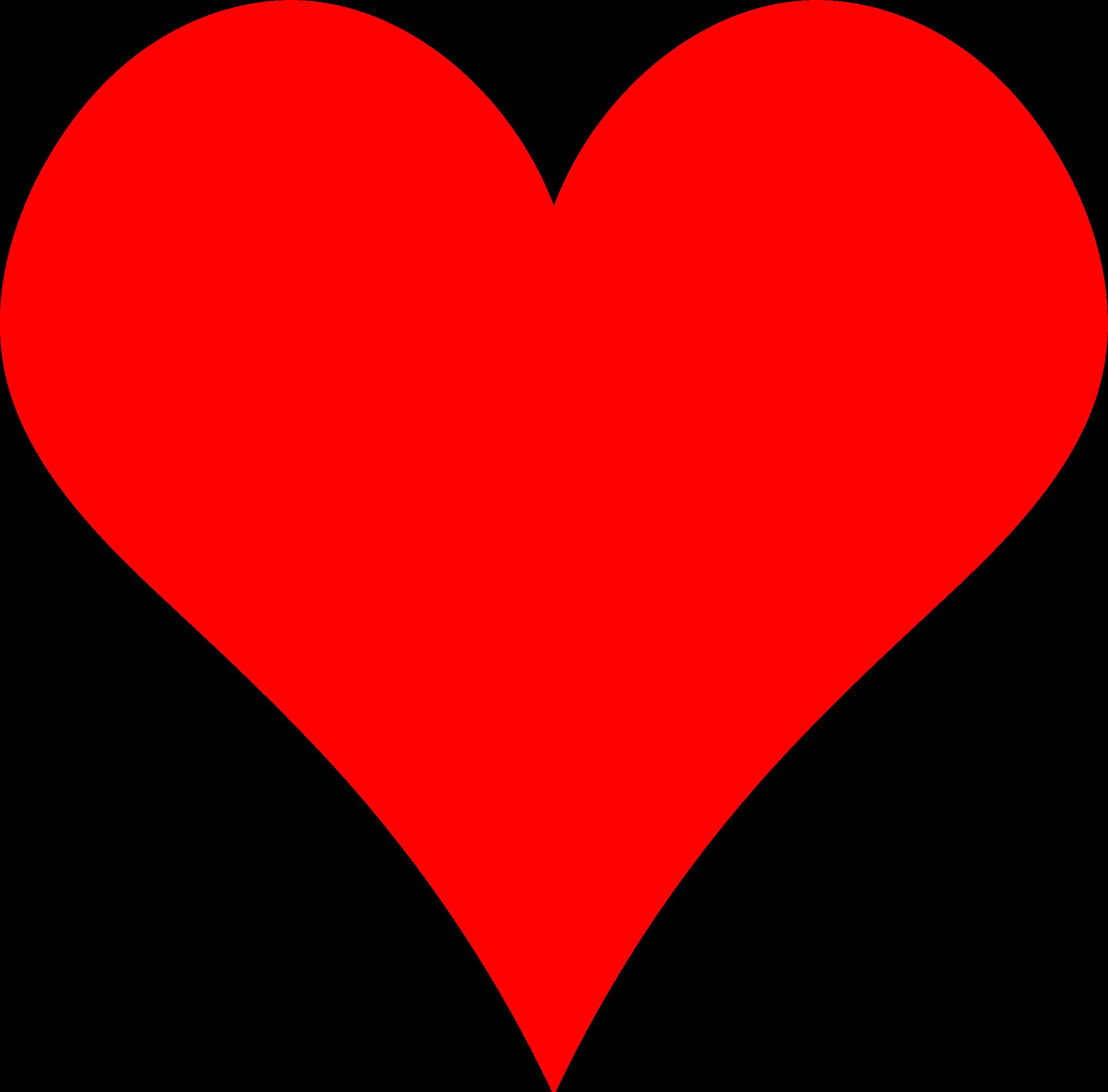 Plain Red Heart - ClipArt Best