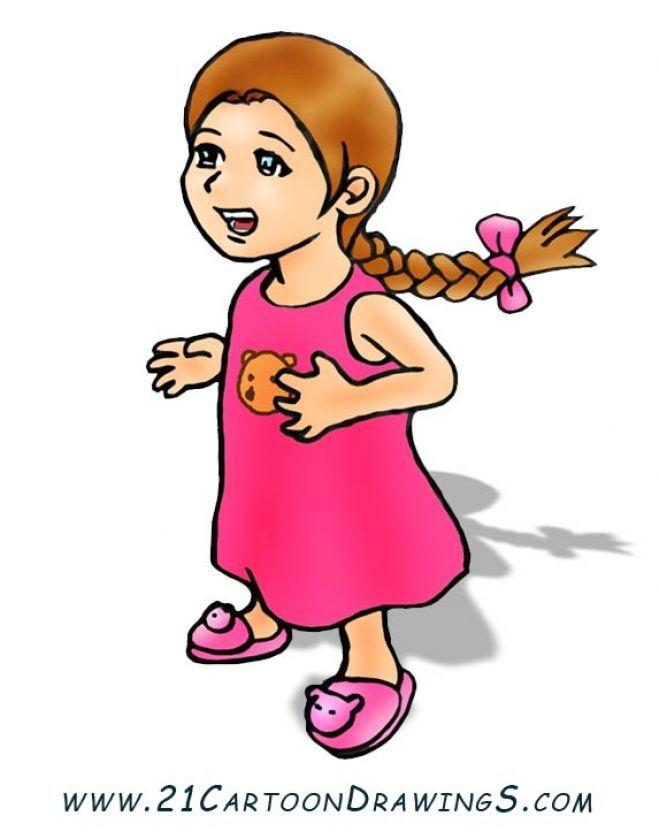 short hair cartoon girl clipart best