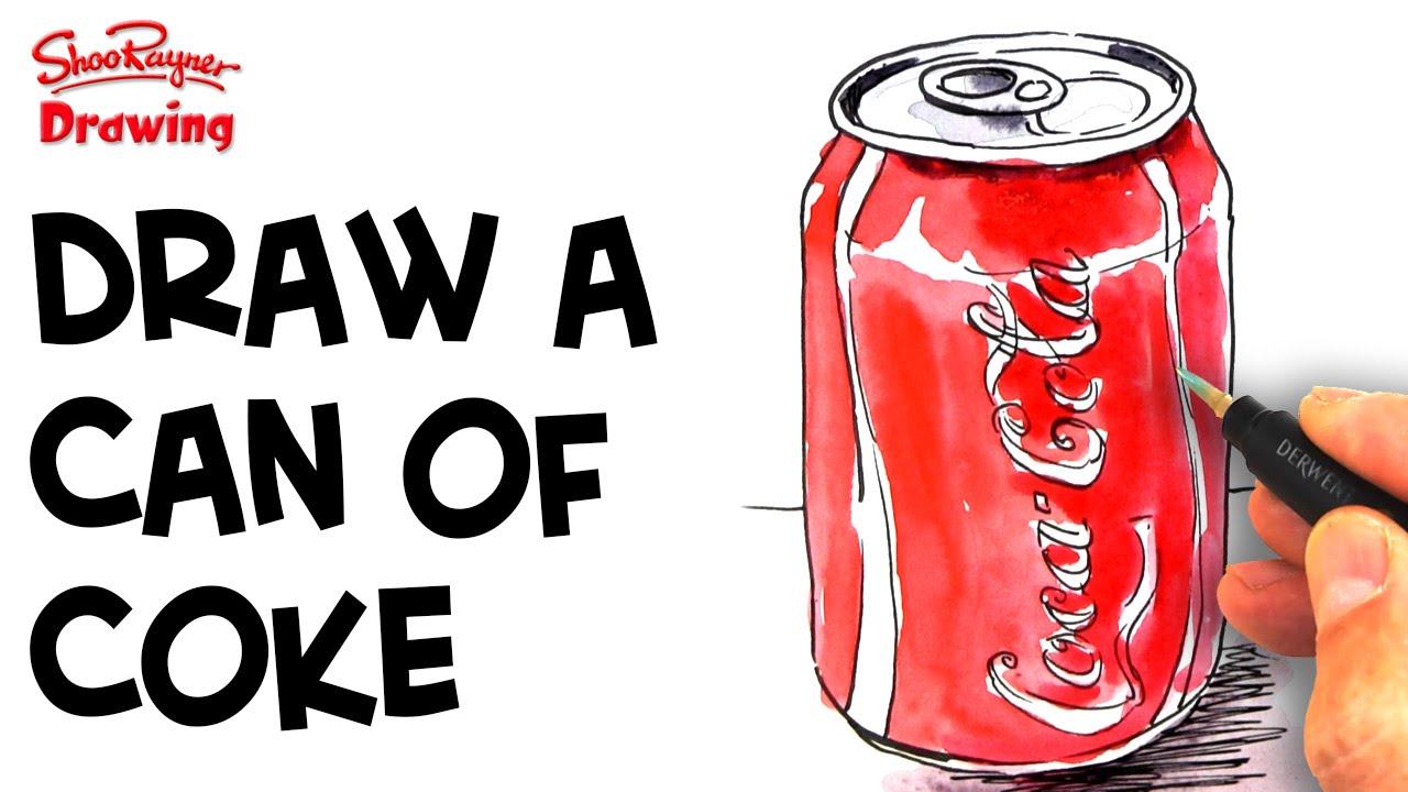 how to draw coke logo