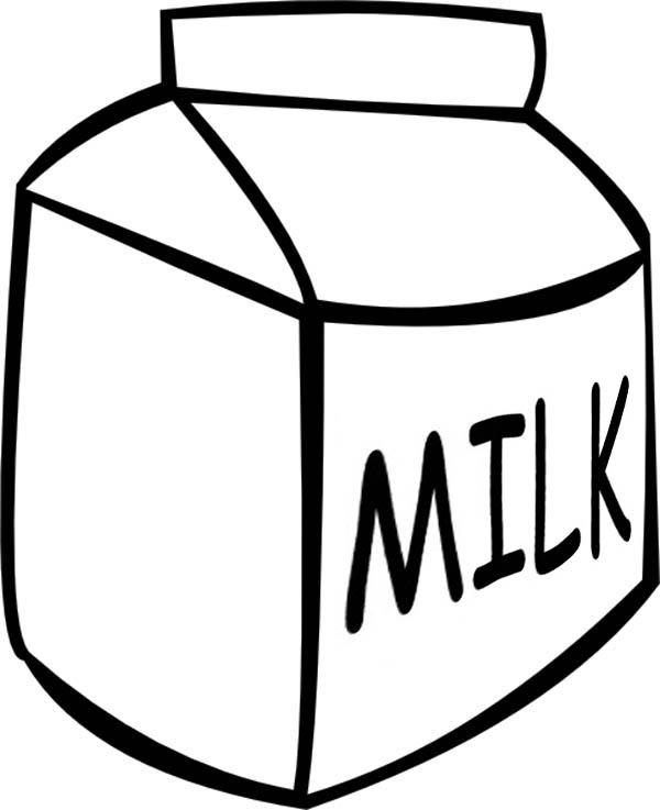 Line Art Jug : Draw milk box clipart best
