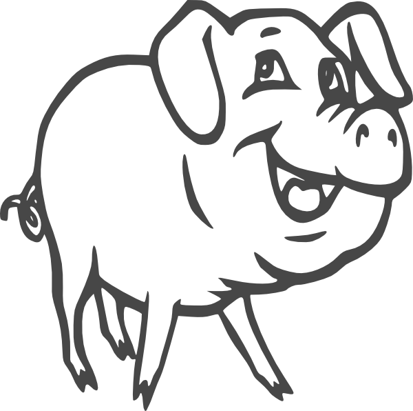 Clip Art Pig Clipart Black And White clip art pig black and white clipart best tumundografico