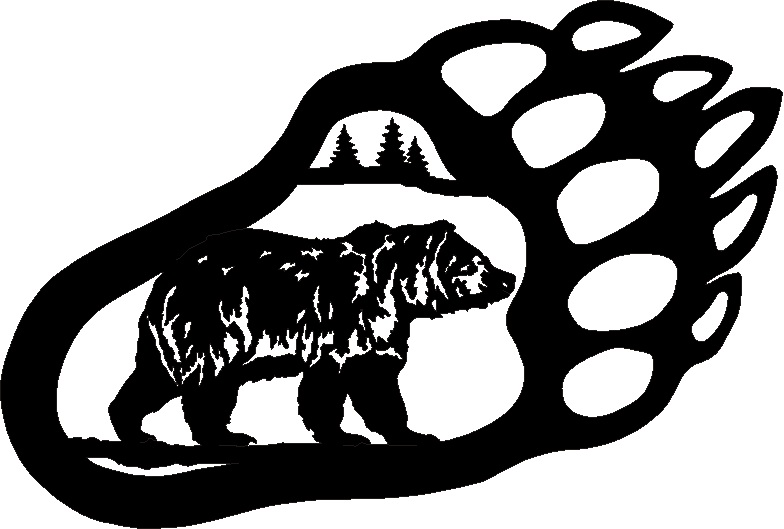 bear footprints template - polar bear paw prints outline search results calendar 2015