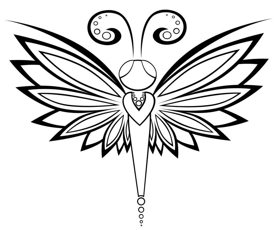 Line Drawing Dragonfly : Dragonfly line art related keywords