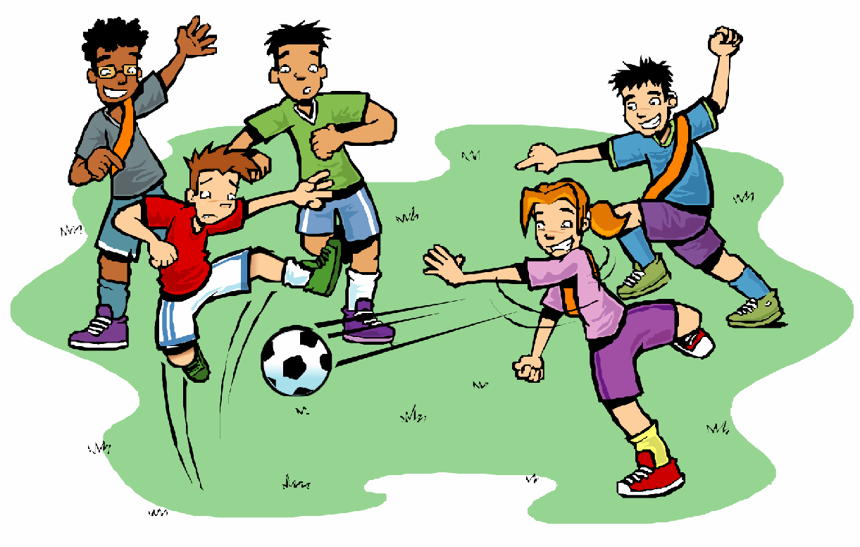 soccer game cartoon clipart best