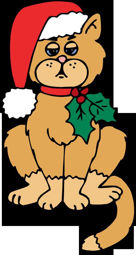 free christmas kitten clipart - photo #2