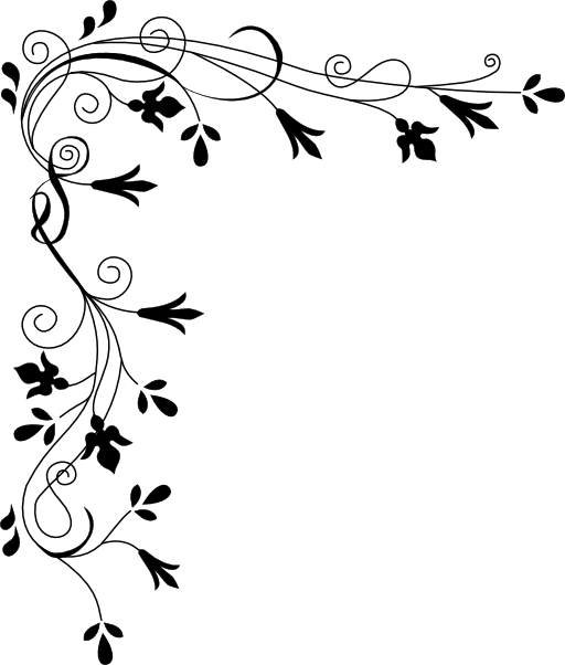 Line Drawing Backgrounds : Stylized flowers border clipart royalty free public