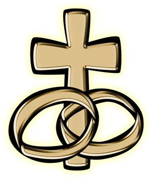 cross with wedding rings clipart clipart best