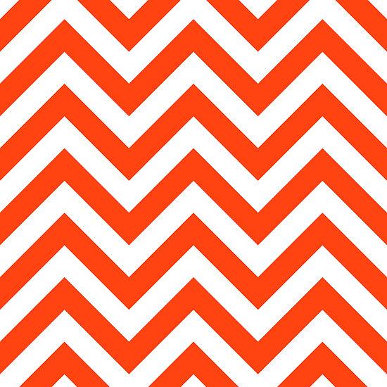 Zigzag Chevron Pattern In Orange Color Quot By Nadil